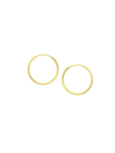 MyGold Mini Creolen Ohrringe Gelbgold 333 Gold (8 Karat) Ohne Stein Ø 13mm Klein Glanz Goldohrringe Goldcreolen Damenohrring Ohrschmuck Geschenke Für Frauen Kinder Sunset shiny C-04109-G301-13mm/1.3mm