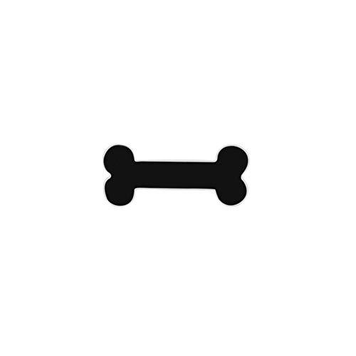 JTXZD Brosche Brosche Pins Mode 11 Stil schwarz Serie Bart Knochen Brille Rose TChi Abzeichen Broschen Revers Shirt - Bart Verwandte Kostüm