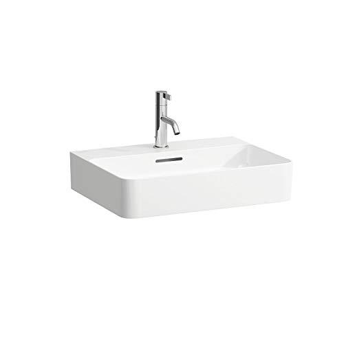 Laufen VAL Aufsatzwaschtisch, 1 Hahnloch, ohne Überlauf, US geschl. 550x420, weiß, Farbe: Weiß mit LCC