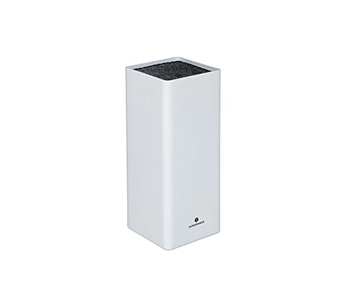 Zassenhaus 0000078060 Messerblock, Kunststoff, weiß, 8,4 x 10,2 x 22,4 cm