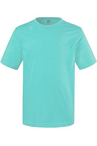JP 1880 Herren große Größen bis 8XL, T-Shirt, JP1880-Motiv auf der Brust, Basic-Shirt, Rundhalsausschnitt, Reine Baumwolle, türkis 3XL 702558 46-3XL