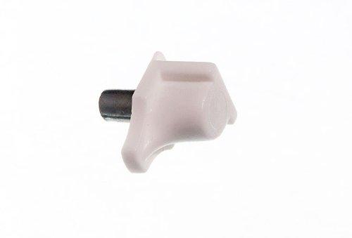 Buch-Kasten Peg Einschub weiße Kunststoff- Metall- Pin Peg Stud 5mm (Packung 24)