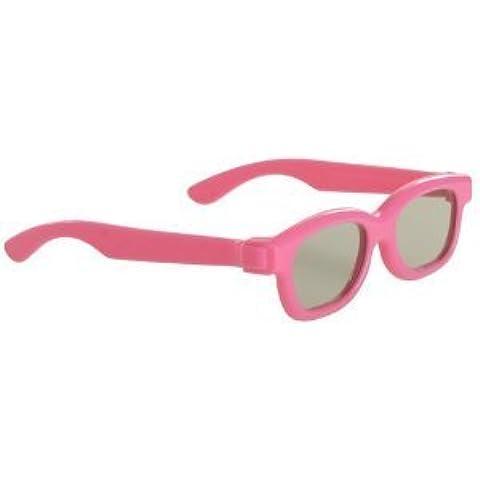 4 Universales pares de gafas 3d pasivas para niños rosados en color para TV y cine