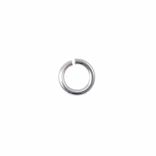 Anneaux de jonction Argent sterling - 6 mm (0.8 mm de diamètre) - 10pk