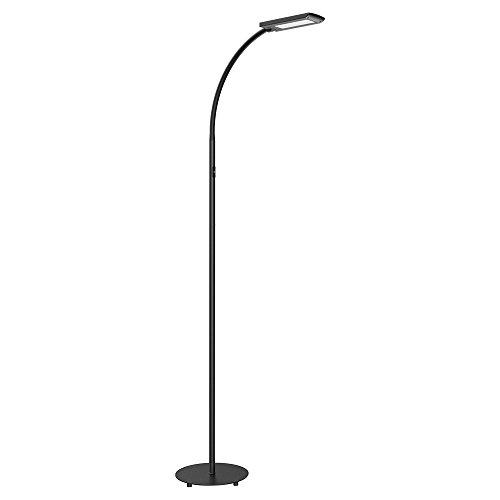 HOMMINI 12W Stehleuchte 5 Levels Funktion | LED Studio Lampe 172cm ( 3 Sektionen erlauben 3 Längeneinstellungen ) Aluminium & Stahl 5 Temperatur Farbe & 3 Std. Auto-Off und Helligkeit Live-Speicher (Lampe Speicher)