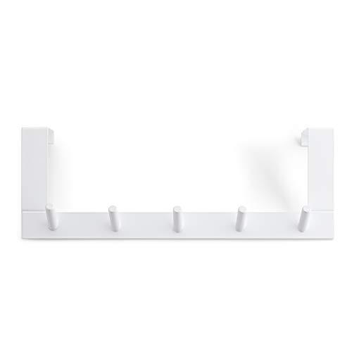 Rayen Hakenleiste für Türen, Stahl, lackiert, 36 x 12,5 x 4 cm, Weiß -