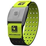 Scosche RHYTHM+ Heart Rate Monitor Armband - Green - Optical Heart Rate Armband Monitor With Dual Band Radio ANT+ and Bluetooth Smart