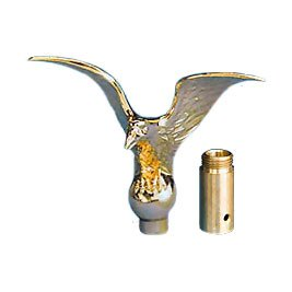 Eder Flag Eagle Top Ornament 8-1/10,2 cm (Flying) mit Hülse Gold -