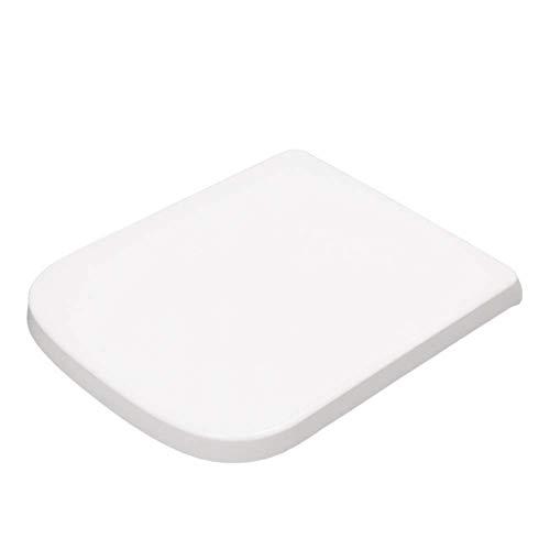 LIYANJIN Quadratischer Toilettendeckel,WC Sitz Toilettensitz mit Absenkautomatik, Fast Fix/Schnellbefestigung, Duroplast, Softclose, Antibakterielle
