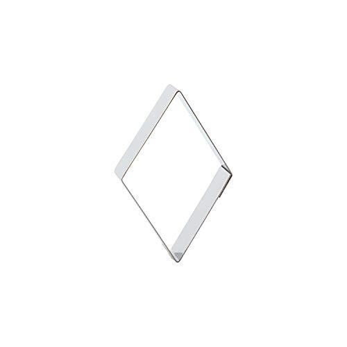 Der-Ideen-Shop Keksausstecher Diamant/Drache / Raute aus Edelstahl