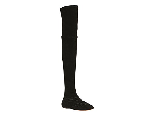 muslo-de-ante-plano-negro-de-azzedine-alaia-botas-numero-de-modelo-3h3w451cc45-tamano-38-eu
