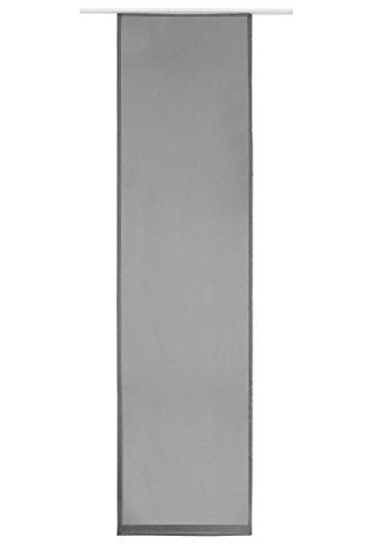 Flächenvorhang Schiebe-Vorhang Schiebe-Gardine Sichtschutz Transparent Unifarben inkl. Zubehör | 245x60cm | Anthrazit-Grau