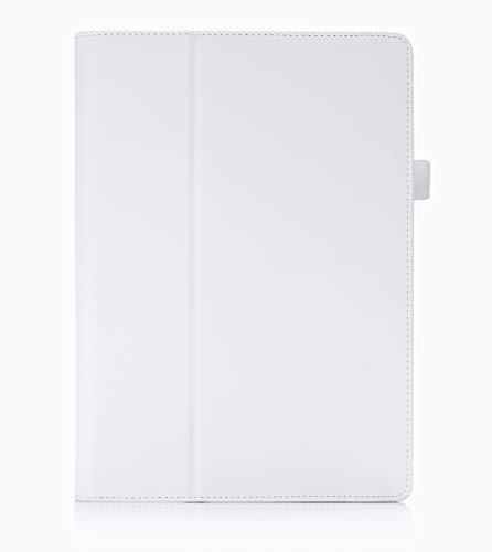 ISIN Tablet Fall Serie Premium PU-Leder Schutzhülle für Lenovo Ideapad MIIX 310 10,1 Zoll Windows 10 Convertible 2 in 1 Tablet PC mit Handschlaufe und Kartenschlitz (Weiß)