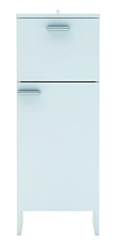 13Casa ariel a7 mobile basso 1 anta + 1 cassetto. dim. 31,5*33*83,8h cm. melamina. bianco.