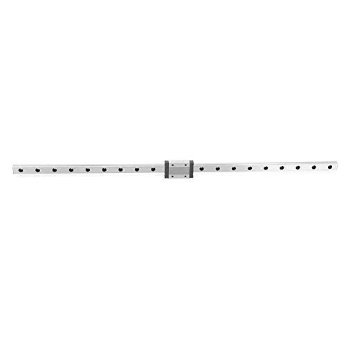 Linearführungsschiene, MGN12H Schwarz Miniatur-Bewegungsschiene 12 mm Breite + Gleitblock(550mm) -