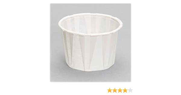 4oz Paper Souffl/é Cup Dry Waxed White Pack Of 250 JenPak