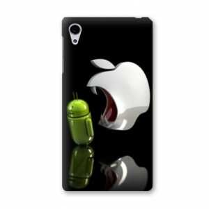 Coque Archos Diamond S apple vs android - pomme dent N