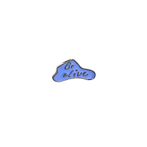 LFDHZ Cartoon Emaille Pin Hausschuhe Ballon EIS Broschen Jacken Hemd Revers Abzeichen Pins Mode Brosche Kinder Rucksack Schmuck Am Leben Sein
