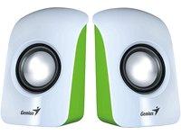 Genius Sp-U115 Altoparlanti, 1.5 W, USB Power, Verde/Bianco