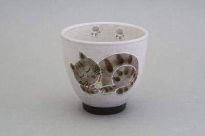 Matsumoto Teetasse Toki Cat Yunomi Red 27276