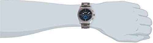 Fossil-Edelstahl-Armbanduhr-Machine-SchwarzBlau-Chronographen-Uhr-mit-groem-Ziffernblatt-lumineszierenden-Zeigern-Datumsanzeige-Edelstahlarmband-im-zeitlosen-Industrial-Look