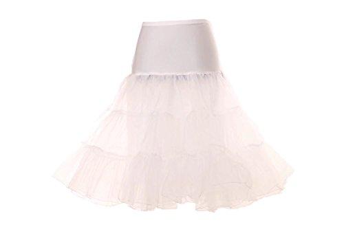 Cancan Enaguas falda vestido midi Cancan 50s Retro Rockabilly Enaguas Miriñaques Faldas vestido retro debajo de un vestido vintage Mujeres Cancan Petticoat hoopless crinoline tutu