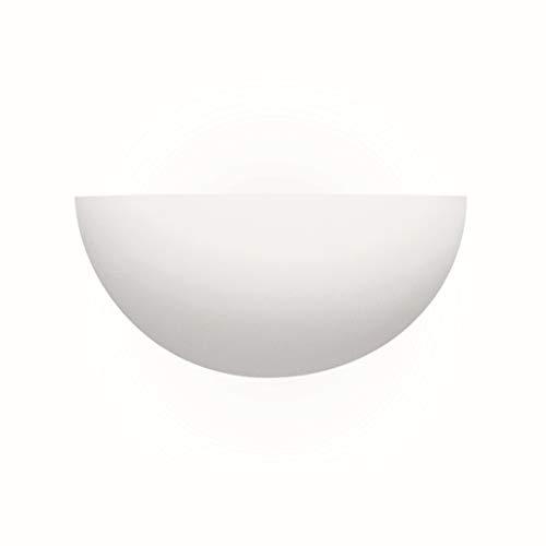 Wandleuchte in Weiß Bauhausstil 1xE27 bis zu 60 Watt 230V aus Gips/Keramik & Schlafzimmer Küche...