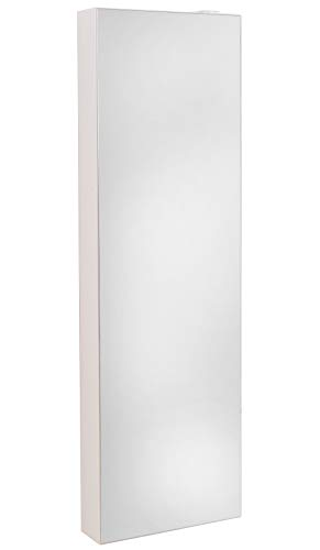 Lightclub-Shop.de Schuhschrank Schuh-BERT 500 Mirror drehbarer Spiegelschuhschrank Spiegel weiß Höhe 150cm