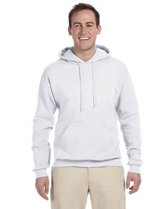 Adult 8 oz. NuBlend� Fleece Pullover Hood WHITE XL Nublend Pullover Hoody