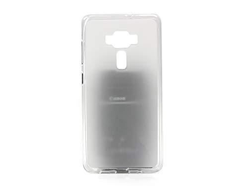 etuo Handyhülle für ASUS Zenfone 3 Deluxe (ZS570KL) - Hülle FLEXmat Case - Weiß - Handyhülle Schutzhülle Etui Case Cover Tasche für Handy