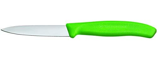Victorinox Swiss Classic 2er Set Gemüsemesser, 8 cm Klinge, Mittelspitz, Spülmaschinengeeignet, Edelstahl, grün -
