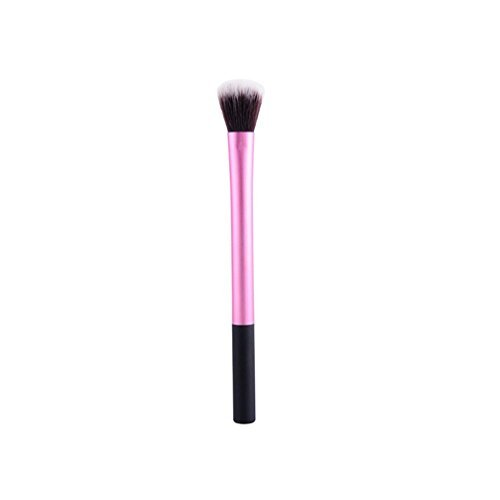 TimeSong Professional Cosmetics Highlighter Brush Setting Brush Plastic Handle Fiber Wool Foundation...