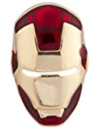 Knighthood Red Iron Man Head Lapel Pin For Men