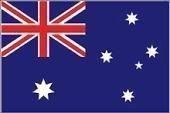 Internationale Flaggen Landesfahnen Deutschland EU 150 x 90 cm mit zwei Metallösen zur Befestigung und zum Hissen (Australien)