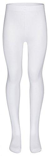 """tanzmuster Kinder Ballett Strumpfhose """"Lena"""" mit Fuß und ohne Zwickel in weiß - äußerst hoher Tragekomfort durch das sehr weiche und hoch elastische Material"""
