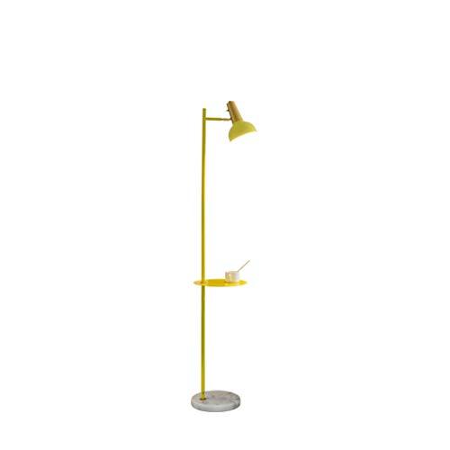 FORWIN Stehleuchte- Moderne gelbe Stehlampe mit Ablagetisch für Wohnzimmer-Persönlichkeit verstellbare Schwanenhals-Stehlampe Innenbeleuchtung (Farbe : Gelb-Stufenloses Dimmen) - Verstellbarer Schwanenhals Stehlampe