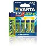 Batteries NiMH AAA/LR03 1.2 V 800 mAh R2U 4-blister Varta Varta no.: 56703 br /