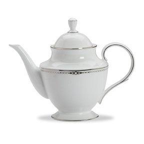 Lenox Pearl Platinum Bone China Teapot by Lenox Lenox Pearl Platinum Bone China