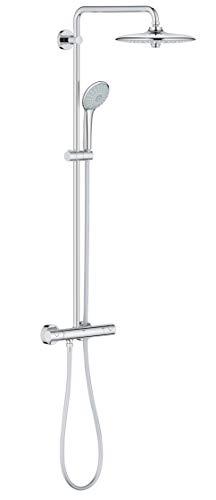 GROHE Euphoria System 260 |Brausen & Duschsysteme - Duschsystem mit Thermostatbatterie für die Wandmontage  | chrom | 27296002