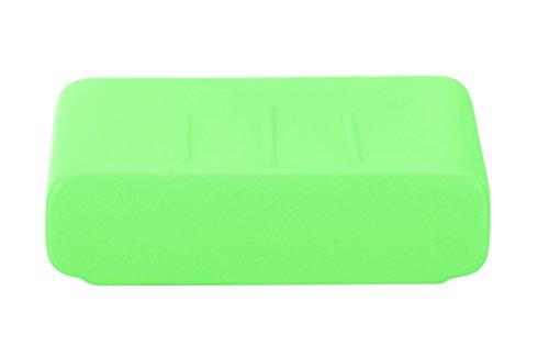 Kleine Wolke 5066617853 Cubic Seifenschale, Steinzeug, distel, 11 x 11 x 3 - Elf-bürstenhalter Kleine