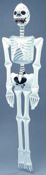 Bristol Novelty ij013aufblasbar Skelett Halloween Dekoration Zubehör Set, weiß/schwarz, One Size