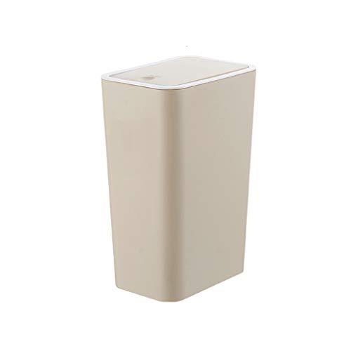 80c7a8ee07 Bote De Basura Baño De Plástico con Tapa Papelera Hogar Simple Dormitorio  Sala De Estar Cocina