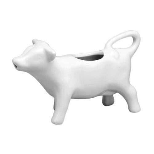 Creative Cow Shaped - Jarra de leche en porcelana, crema de leche de vaca de porcelana blanca para leche y crema, LZ5219-G5Â¡Soy salsa, vinagre, botella de condimento