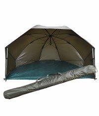 Angelspezi Brolly Oval Compact Schirmzelt Oval Schirm mit Seitenteilen
