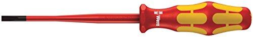 Wera 160 iSS VDE-isolierter Schlitz-Schraubendreher mit reduziertem Klingen- und Griffdurchmesser, 0,8 x 4,0 x 100 mm, 05020129001