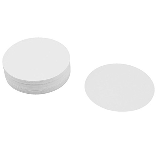 100 Pcs Fast Flow 0.15% Ash Content 7cm Dia Qualitative Filter Paper