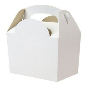 Set of 10 Childrens White Food Boxes