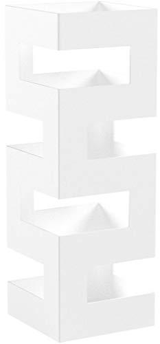 Haku Möbel Schirmständer, 16 x 16 x H: 48 cm, weiß