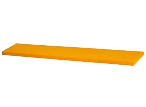 IKEA Kallax Regal Sitzauflage 146 x 39 x 4 cm Sitzpolster Sitzbank-Auflage Sitzkissen/Auflage für Sideboard als Sitzbank/unempfindlicher Bezug/Farbe GELB