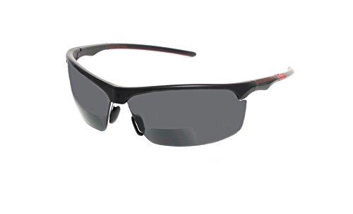Sonnenbrille mit Leseteil Bifokal/Sportbrille Bifokal Outrigger/Multisportbrille Bifokal/PRO/BLK/RED...